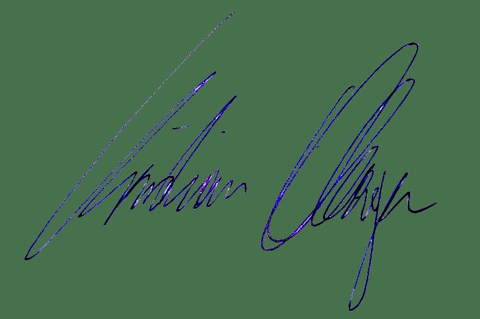 Unterschrift Christian Oberger